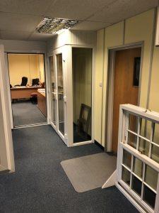 Door and window samples in showroom