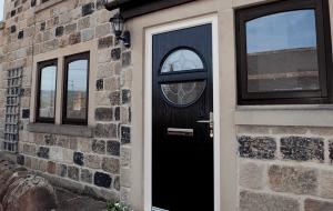 composite door black design