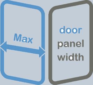 max door panel width