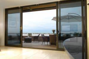 opened patio door