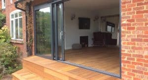opened air lift and slide doors