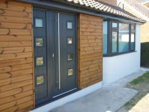 Anthracite grey entrance door