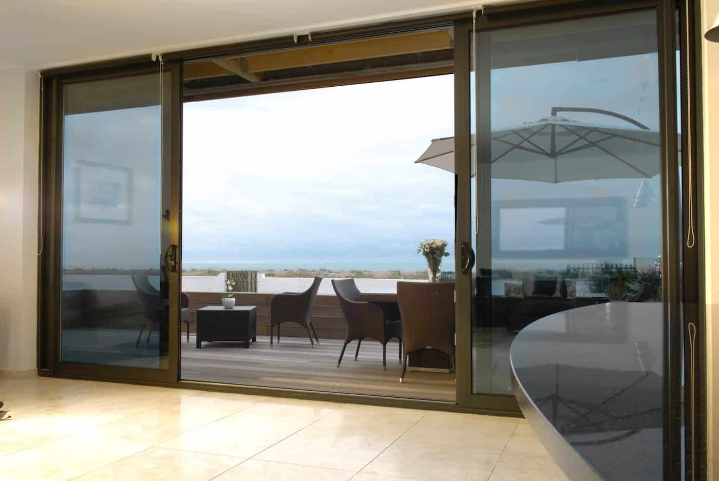 Bowalker aluminium widespan sliding doors in Sussex