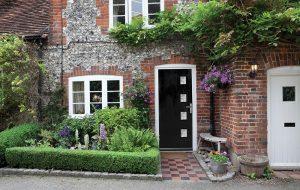Gothic black composite doors Bowalker Doors Hove