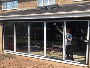 Kitchen extension with bifold doors