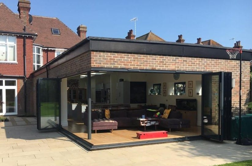 Cornerless bifold doors Sussex