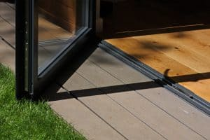 Low threshold bifiold door Bowalker Doors Sussex
