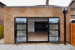 Open plan kitchen bifold doors