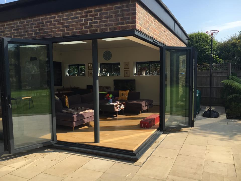 Cornerless bifold doors Sussex