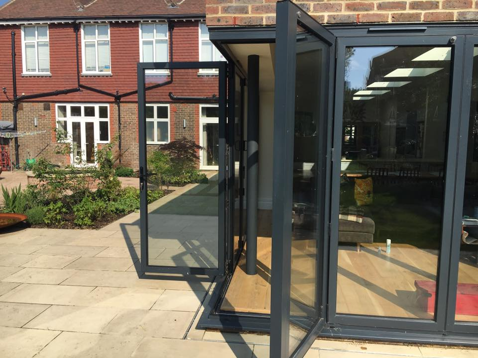 Cornerless bifold doors Bowalker Doors