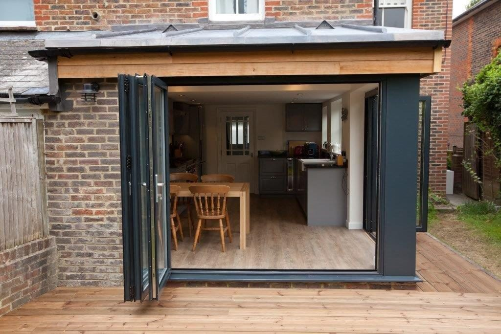 Bifold doors on extension