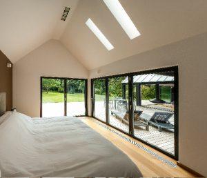 Bi fold door in bedroom