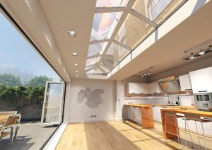 Skypod white open plan