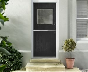 Black scaled Hallmark door