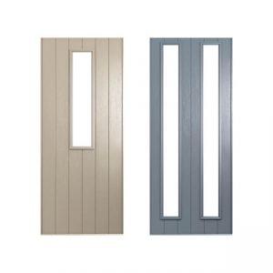 Beige and grey doors