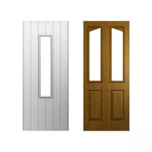 White and brown doors