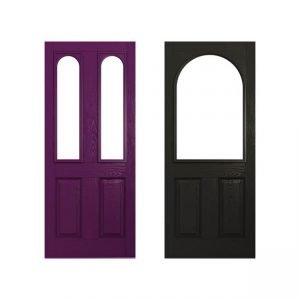 purple and dark doors