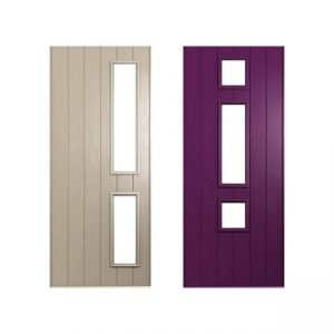Beige and purple door