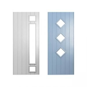 White and blue doors