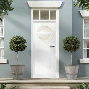 White scaled Hallmark door